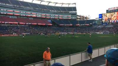 Gillette Stadium, section: 113, row: 2, seat: 12