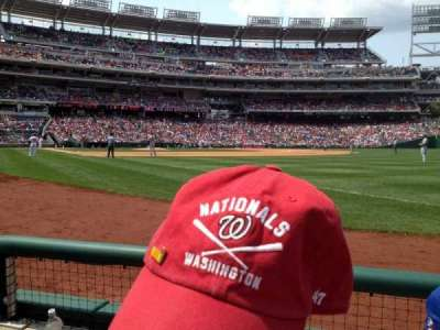 Nationals Park, section: 135, row: B, seat: 5
