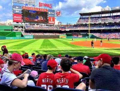 Nationals Park, section: 113, row: M, seat: 8