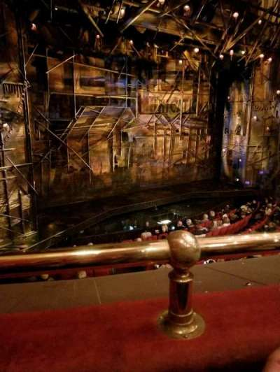 Broadway Theatre - 53rd Street, section: Front Mezzanine, row: A, seat: 8