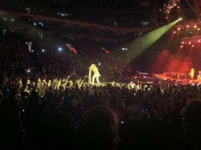 Oracle Arena, section: 101, row: 2, seat: 8