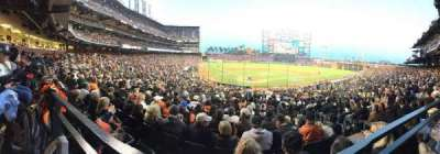 AT&T Park, section: 113, row: Last