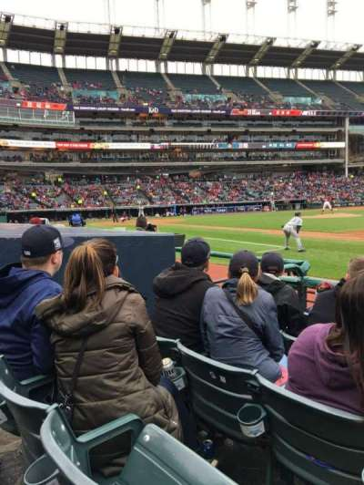 Progressive Field, section: 138, row: E, seat: 6