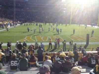 Lambeau field section 101 home of green bay packers