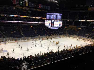 Bridgestone Arena, section: 213, row: F, seat: 17