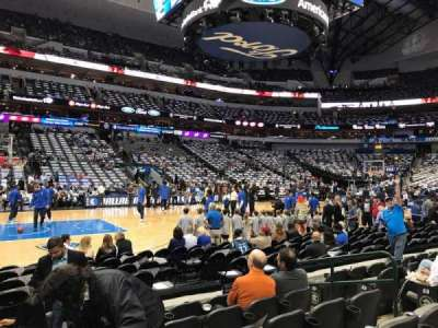 American Airlines Center, section: 108, row: F, seat: 8