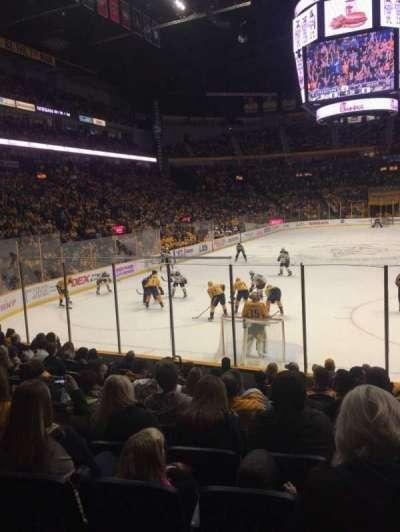 Bridgestone Arena, section: 101, row: MM, seat: 9