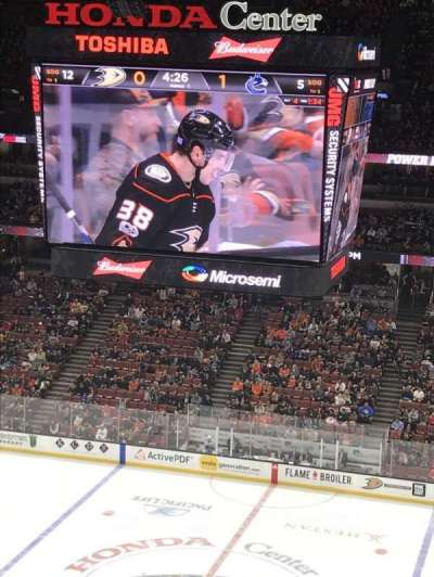 Honda Center, section: 410, row: K, seat: 9
