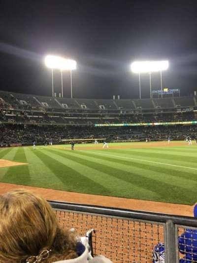 Oakland Alameda Coliseum, section: 105, row: 2, seat: 10-11