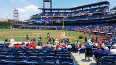 Citizens Bank Park, section: A, row: 16, seat: 1