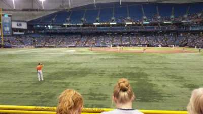 Tropicana Field, section: 143, row: V, seat: 6