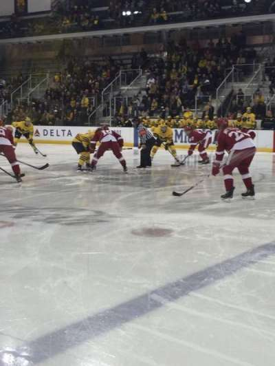 Yost Ice Arena, section: 6, row: 1, seat: 1-4