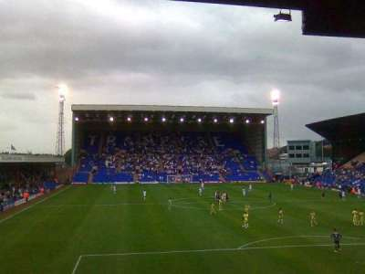 Prenton Park, section: Cowshed Stand, row: V, seat: 25