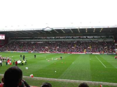 Bramall Lane, section: South Stand Gangway B, row: O, seat: 43