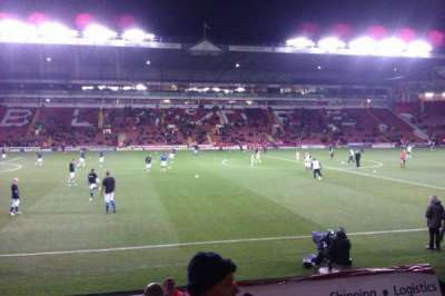 Bramall Lane, section: South Stand Gangway F, row: J, seat: 134