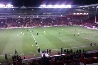 Bramall Lane, section: South Stand Gangway E, row: GG, seat: 106