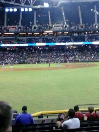 Chase Field, section: 106, row: H, seat: 11
