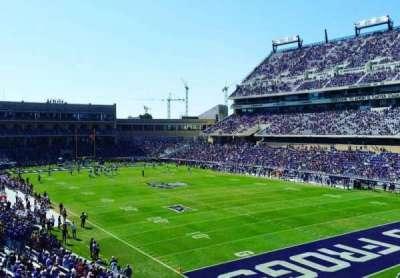 Amon G. Carter Stadium, section: 228, row: B, seat: 101