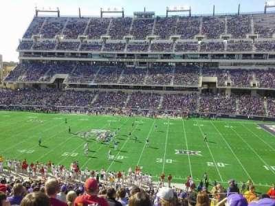 Amon G. Carter Stadium, section: 233, row: Q