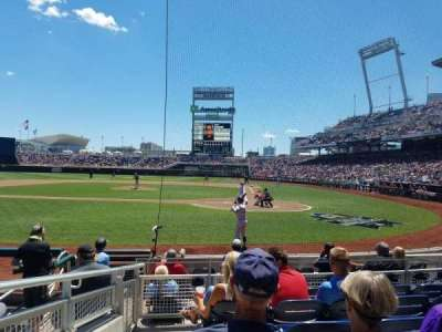 TD Ameritrade Park, section: 114, row: 8, seat: 14