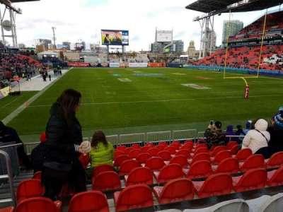 BMO Field, section: 116, row: 15, seat: 27