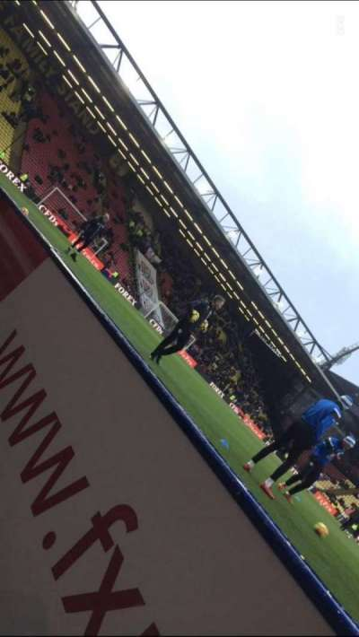 Vicarage Road, section: Graham Taylor Stand, row: CC, seat: 109