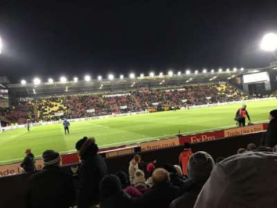 Vicarage Road, section: Graham Taylor Stand- LGT1, row: G, seat: 33