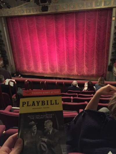 Broadhurst Theatre, section: Front Mezz, row: F, seat: 8