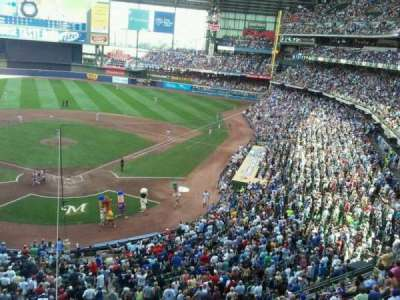 Miller Park, section: 330, row: 1, seat: 3