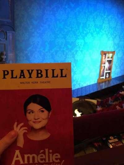 Walter Kerr Theatre, section: Mezz Left, row: A, seat: 23