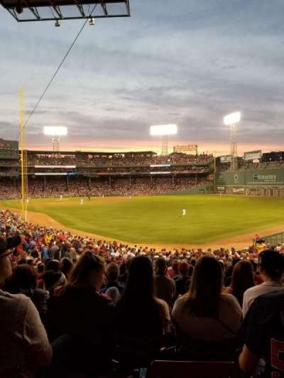 Fenway Park, section: Grandstand 4, row: 1, seat: 7