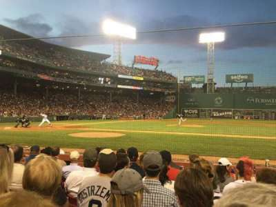 Fenway Park, section: Field Box 31, row: E, seat: 1