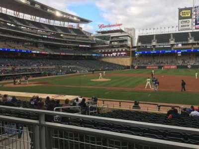 Target Field, section: 108, row: 2, seat: 5