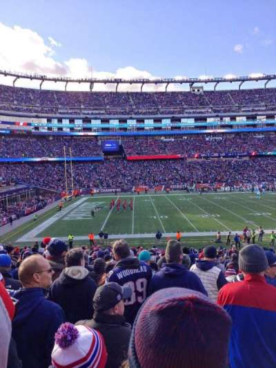 Gillette Stadium, section: 113, row: 30, seat: 7