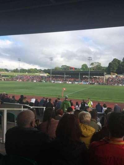 Eirias Stadium, section: North stand, row: C, seat: 6
