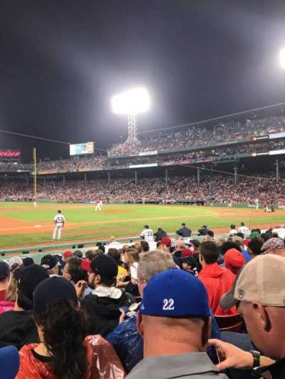 Fenway Park, section: FIeld Box 67, row: M, seat: 4