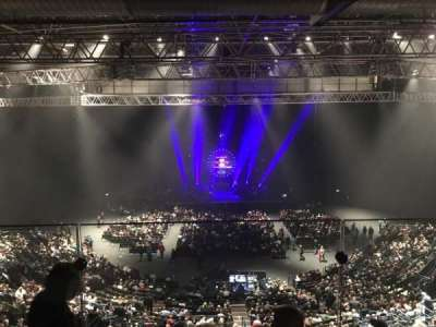 Barclaycard Arena, section: Show deck, row: Stools, seat: 8