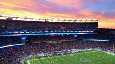 Gillette Stadium, section: 315, row: 3, seat: 10
