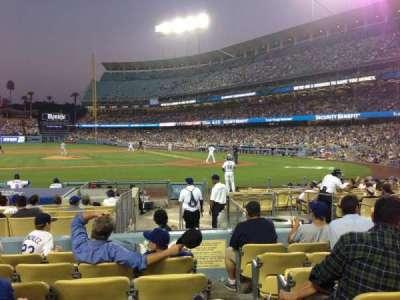 Dodger Stadium, section: 17FD, row: G, seat: 1