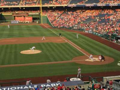 Nationals Park, section: 209, row: A, seat: 17