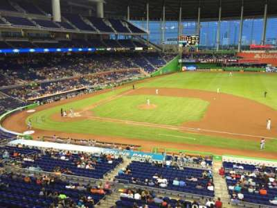 Marlins Park, section: 209, row: 1, seat: 3