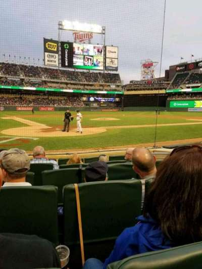 Target Field, section: Champions Club 7, row: F, seat: 5