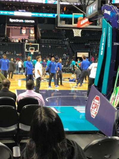 Spectrum Center, section: 110, row: A, seat: 4