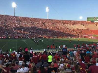 Los Angeles Memorial Coliseum, section: 8, row: 17, seat: 17