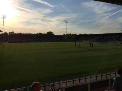 Pirelli Stadium, section: Away stand, row: N/a, seat: Left of go
