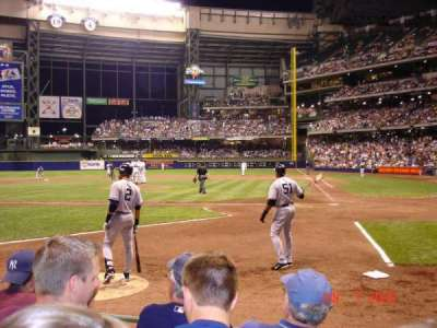 Miller Park, section: 120, row: 4, seat: 5