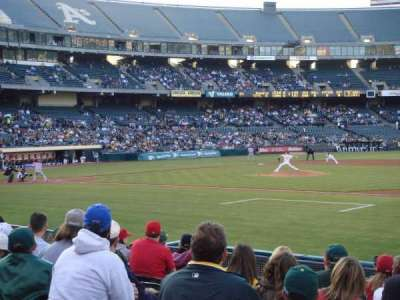 Oakland Alameda Coliseum, section: 110, row: 11, seat: 13
