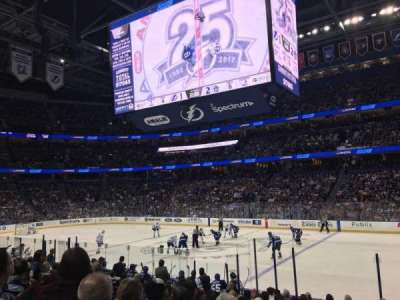 Amalie Arena, section: 129, row: P, seat: 16