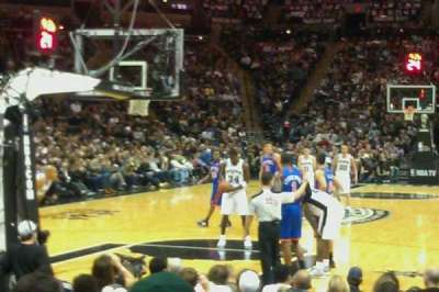 AT&T Center, section: 114, row: 12, seat: 5