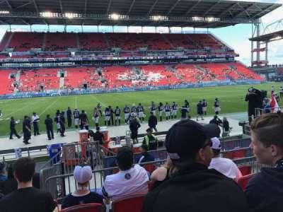 BMO Field, section: 125, row: 8, seat: 7